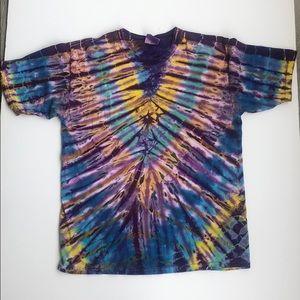 Tie Dye Spider Stripes Unisex short sleeve T-shirt